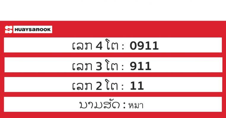 ตรวจหวยลาว 26 พฤศจิกายน 2563